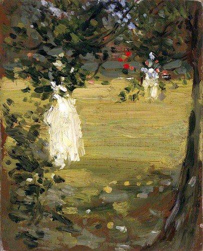 John Duncan Fergusson - White Dress in the Garden