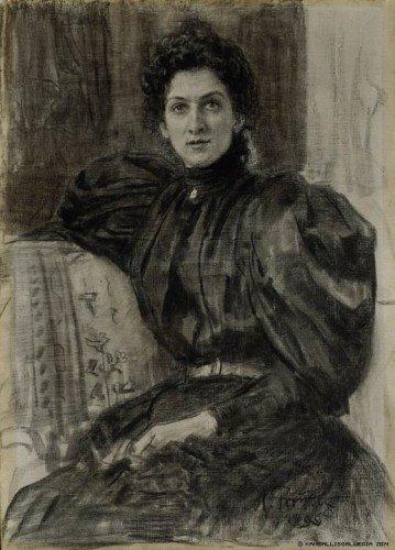 Ilia Efimovich Repin - Actress Vera Pushkareva