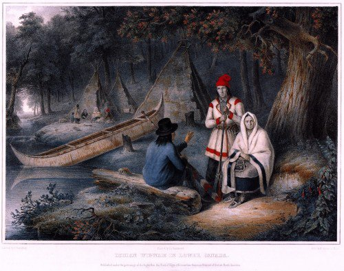 Cornelius Krieghoff - Indian Wigwam in Lower Canada