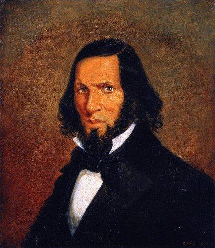 Cornelius Krieghoff - Self-Portrait