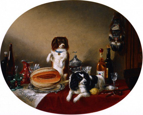 Cornelius Krieghoff - The Pets and the Materials