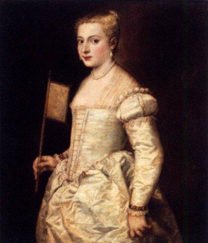 Titian - Girl with a Fan