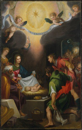 Lodovico Cardi - The Adoration of the Shepherds with Saint Catherine of Alexandria
