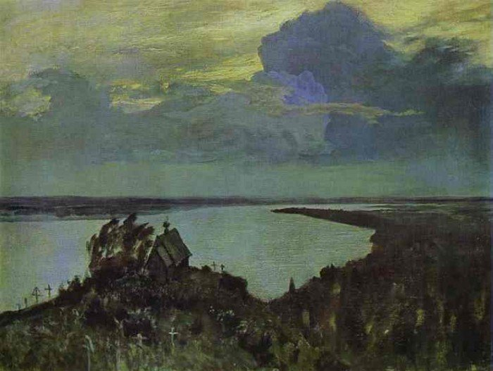 Levitan, Isaac - Above Eternal Peace (study)