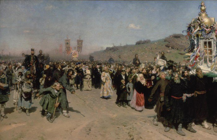 Repin, Ilya - A Religious Procession in the Province of Kursk