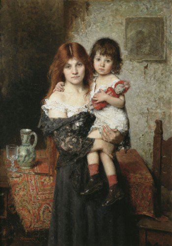 Alexei Harlamoff - Mother and Daughter
