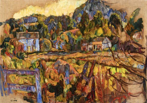 Abraham A. Manievich - Landscape with Fence