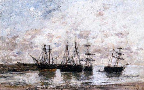 Eugène-Louis Boudin - Portrieux, Low Tide