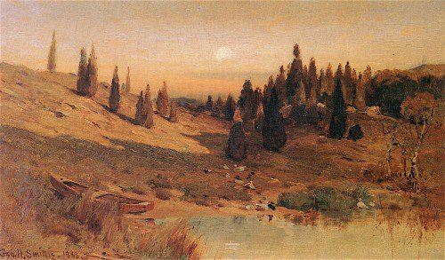 George Henry Smillie - Evening among the Cedars