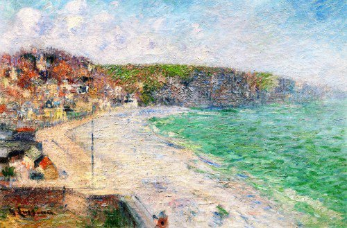 Gustave Loiseau - The Beach and Cliffs at Fécamp