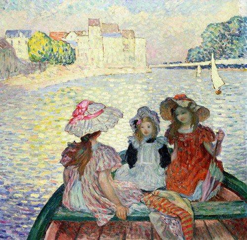 Henri Lebasque - Three Girls in a boat