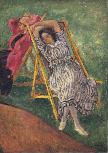 Henri Lebasque - Two girls resting