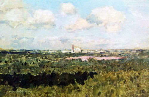 Isaak Levitan - View of New Maiden's Convent