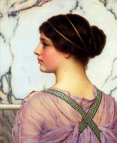 John William Godward - A Grecian Lovely