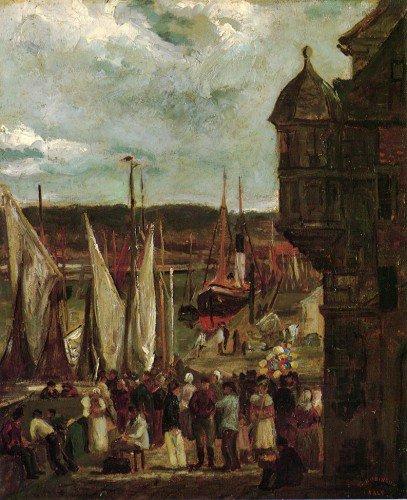 Theodore Robinson - Harbor Scene