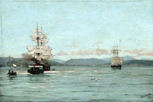 Thomas Jacques Somerscales - On the Clyde near Greenock