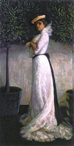 Florine Stettheimer - Portrait of My Sister Carrie W. Stettheimer in a White Dress