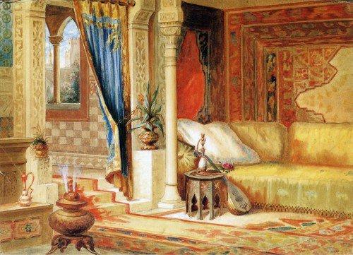 John Z. Wood - Turkish Room Theater Curtain Sketch