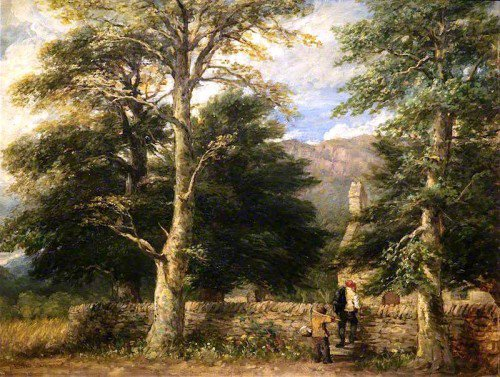 David Cox - The Church at Betws-y-Coed, Snowdonia