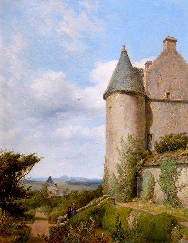 James Cassie - On the Terrace, Barra Castle, Aberdeenshire