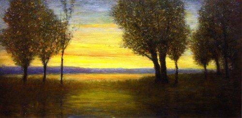 George Van Millett - Sunset with Trees
