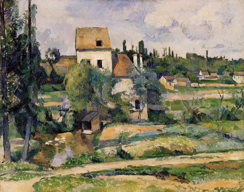 Paul Cézanne - Mill on the Couleuvre at Pontoise