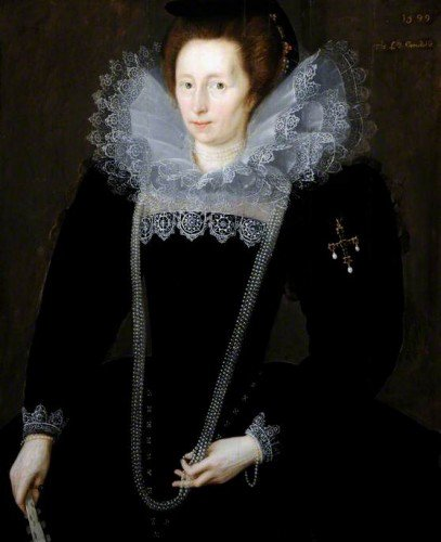 Marcus Gheeraerts the Younger - Lady Margaret, Daughter of Sir William Dormer, Wife of Sir Henry Constable