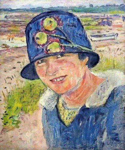 George Leslie Hunter - The Blue Hat