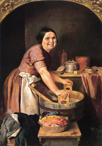 Lilly Martin Spencer - The Jolly Washerwoman