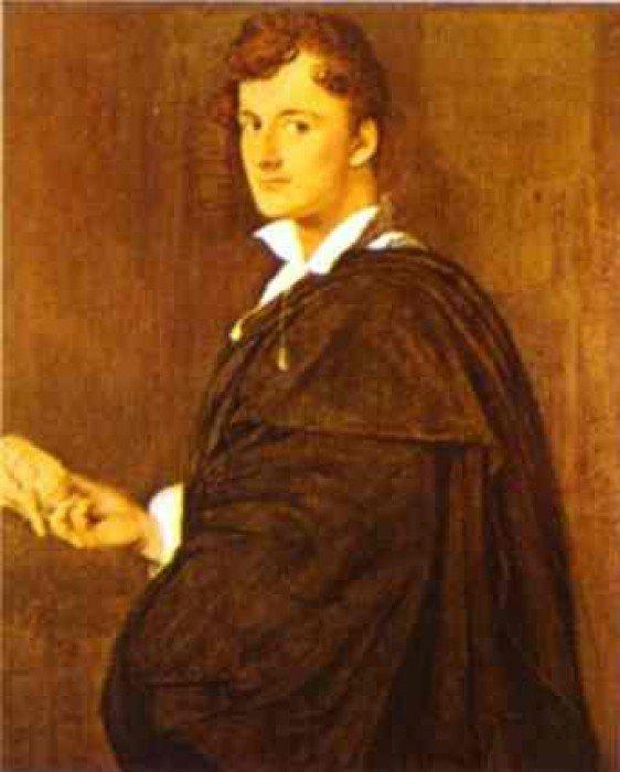 Ingres, Jean-Auguste-Dominique - Portrait of Lorenzo Bartolini