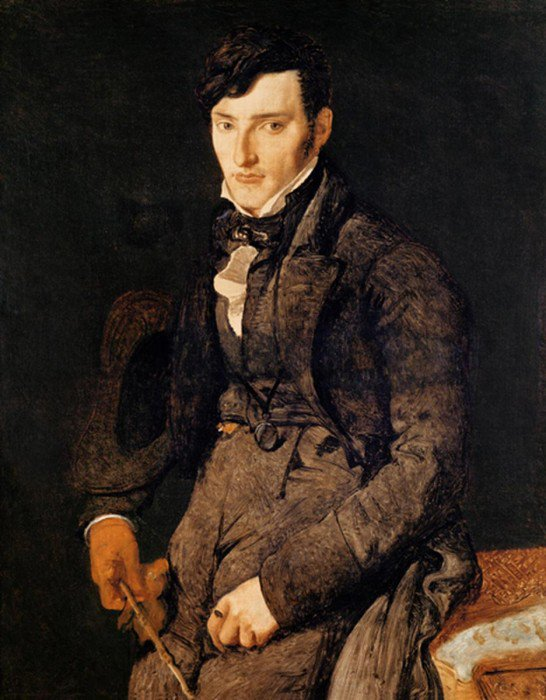Ingres, Jean-Auguste-Dominique - Portrait of Jean-Pierre-Francois Gilibert