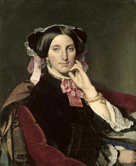 Ingres, Jean-Auguste-Dominique - Portrait of Madame Gonse