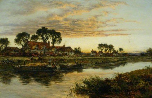 Benjamin Williams Leader - On the Severn
