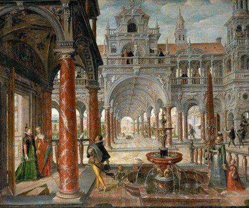 Hans Vredeman de Vries - Palace with distinguished visitors