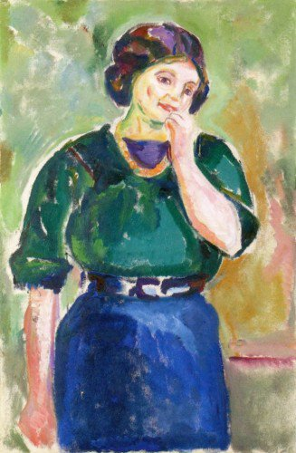 Edvard Munch - Model in Green and Blue