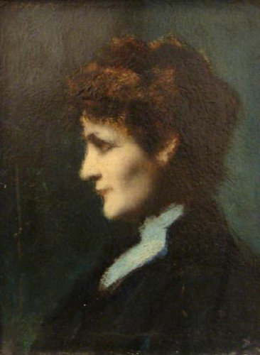 Jean-Jacques Henner - Eugénie-Marie Gadiffet-Caillard, known as Germaine Dawis