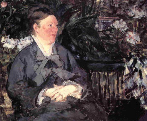Édouard Manet - Madame Manet in the Conservatory