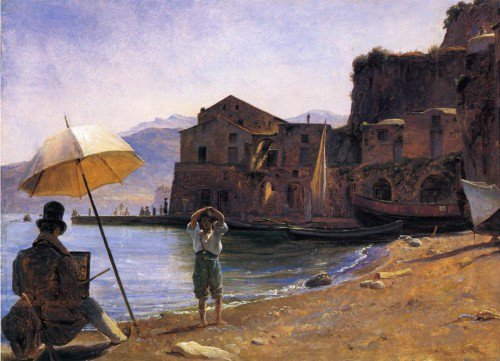 Thomas Fearnley - The Painter and the Boy