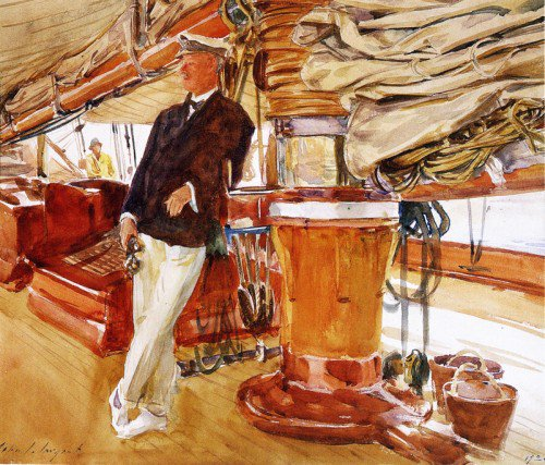 John Singer Sargent - On the Deck of the Yacht Constellation