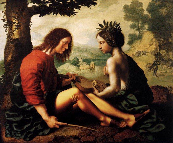 Hemessen, Jan Sanders van - Allegorical Scene