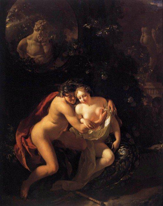 Werff, Adriaen van der - Amorous Couple Spied upon by Children