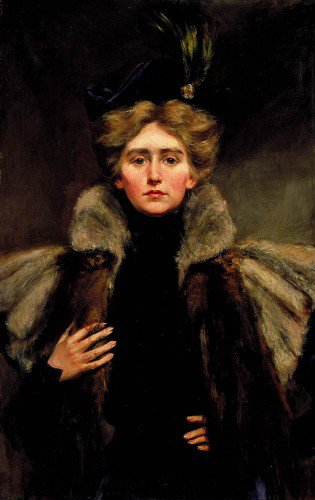 Alice Pike Barney - Natalie in Fur Cape