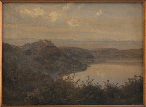 Janus La Cour - A View towards Castel Gandolfo, Italy