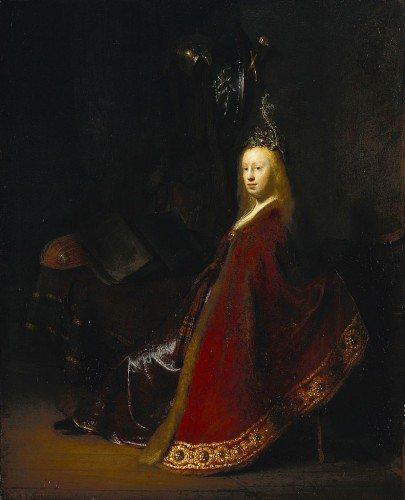 Rembrandt van Rijn - Minerva in her Study