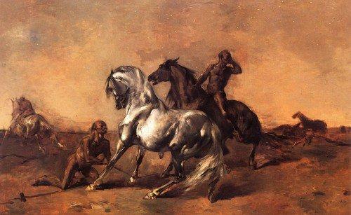 Eugène Fromentin - Scene in a Desert