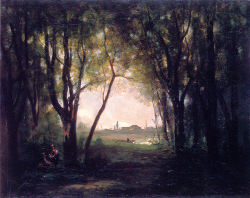 Jean-Baptiste-Camille Corot - Landscape with Lake