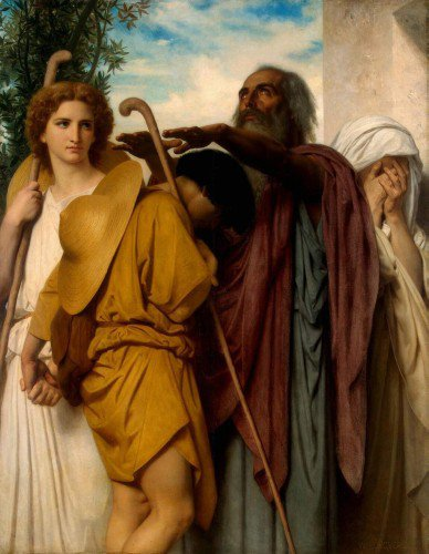 William Bouguereau - Tobias Receives His Father's Blessing