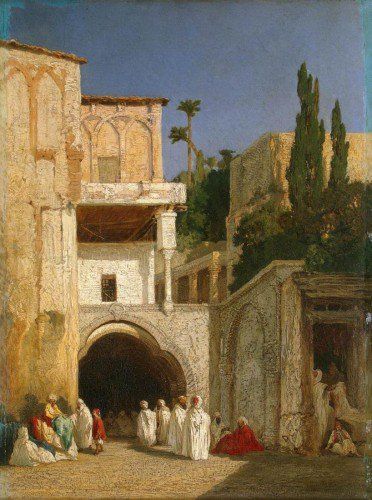 Alexandre-Gabriel Decamps - Before the Mosque in Cairo
