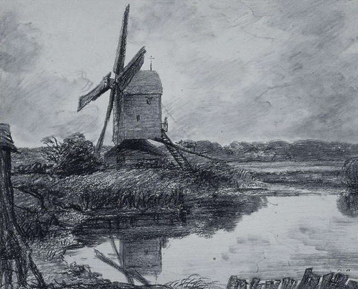 Constable, John - A Mill on the Banks of The River Stour