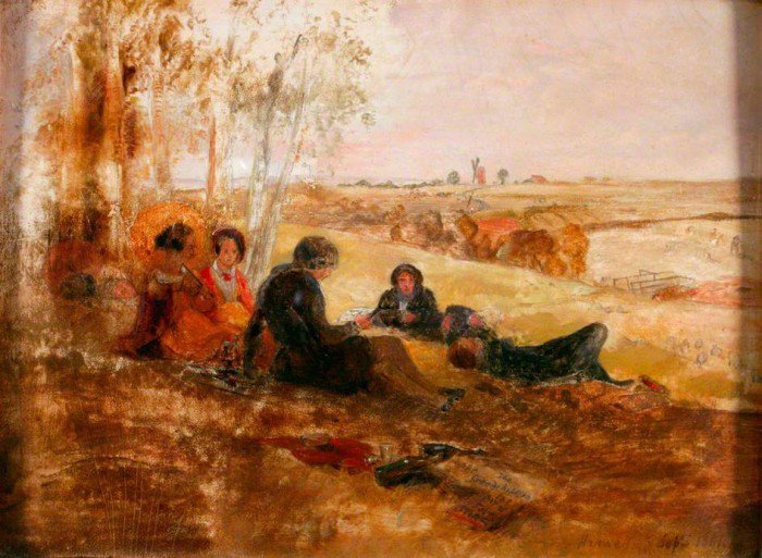 Scott, William Bell - A Picnic at Hanwell
